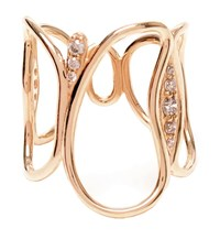 Fernando Jorge Fluid Diamond Chain Ring Female Rose Gold