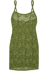 Cosabella Foxie Stretch Lace Chemise Green