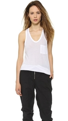 Alexander Wang Classic Tank With Pocket White