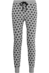 Markus Lupfer Smacker Printed Cotton Track Pants Gray