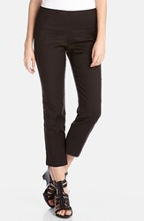 Women's Karen Kane Stretch Woven Capri Pants Black