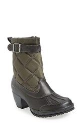 Jambu Women's 'Dover' Water Resistant Boot Black Green Leather