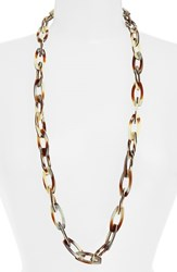 Women's L. Erickson 'Farrah' Link Necklace Natural Horn