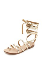 Splendid Carly Lace Up Sandals Gold
