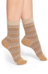 Women's Pantherella 'Floria' Fair Isle Cashmere Blend Socks Beige Natural