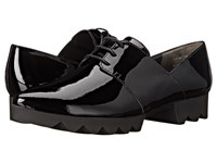 Paul Green Henley Black Patent Women's Lace Up Casual Shoes