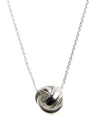 Lord And Taylor Sterling Silver Sliding Knot Necklace
