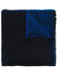 Etro Abstract Motif Scarf Blue