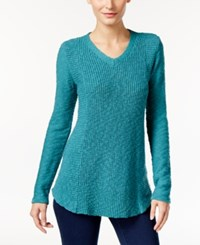 Styleandco. Style Co. V Neck Sweater Only At Macy's Teal Haze