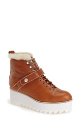 Jeffrey Campbell 'Slander' Platform Boot Women Camel White