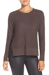 Alo Yoga Women's 'Glimpse' Long Sleeve Top Mink Heather