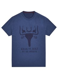 Joules Grab The Bike T Shirt French Navy Marl