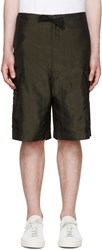 Paul Smith Green Satin Cargo Shorts