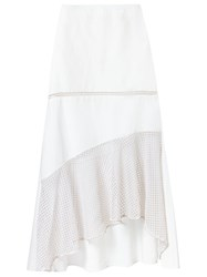 Giuliana Romanno Lace Midi Skirt White