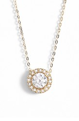 Women's Nadri Halo Pendant Necklace Gold