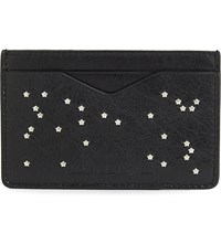 Alexander Mcqueen Star Studded Leather Card Holder Black