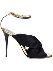 Oscar De La Renta Knot Detail Sandals Black