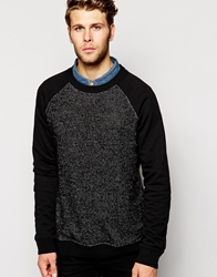 Another Influence Waffle Crew Jumper Black