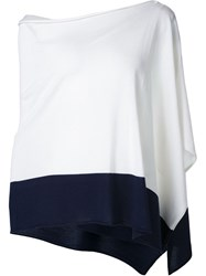 Ralph Lauren Black Label Ralph Lauren Black Asymmetric Knit Top White
