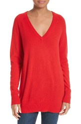 Equipment Women's 'Asher' V Neck Cashmere Sweater French Red