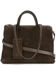 Marsell Suede Tote Brown