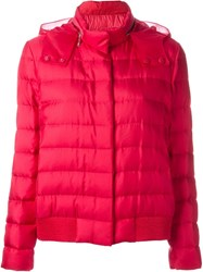 Moncler Gamme Rouge Organza Hood Puffer Jacket Pink And Purple