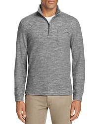 Todd Snyder Action Half Zip Sweatshirt Light Grey