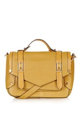 Topshop Smart Satchel Mustard