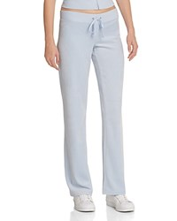 Juicy Couture Sport Black Label Original Flare Velour Pants In Icy Blue 100 Bloomingdale's Exclusive