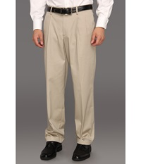 Dockers New Iron Free Khaki D3 Classic Fit Pleated Safari Beige Men's Casual Pants