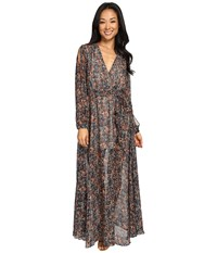 Brigitte Bailey Maelys Cold Shoulder Maxi Dress Navy Multi Women's Dress