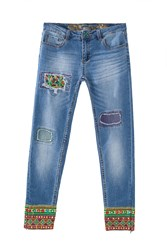 Desigual Ethnic Ankle Jeans Denim