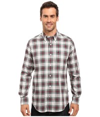 Nautica Long Sleeve Wrinkle Resistant Plaid Shirt Lakeside Green Men's Long Sleeve Button Up White