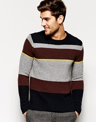 Dkny Block Stripe Jumper Grey