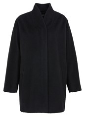 Hallhuber Longhair Wool Zipper Crop Coat Black