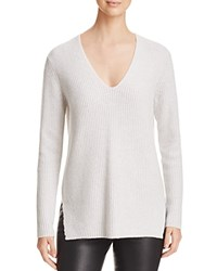 Bloomingdale's C By Deep V Cashmere Sweater Frost