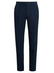 Gieves And Hawkes Slim Leg Cotton Moleskin Chino Trousers Navy