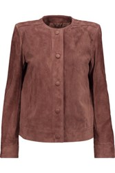 Helmut Lang Suede Jacket Brown