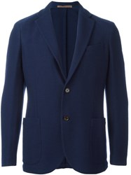 Eleventy Fitted Blazer Blue