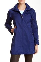 Rainforest Hooded Travel Coat Blue