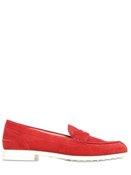 Tod's 20Mm Vk Suede Loafers Red
