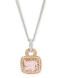 Roma Morganite And Diamond Pendant Necklace Frederic Sage