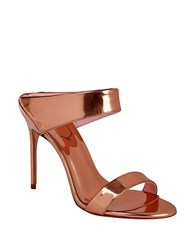 Ted Baker Chablise Leather Stiletto Sandals Rose Gold