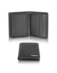 Porsche Design Cl2 2.0 Black Square Leather Wallet W Coin Pocket