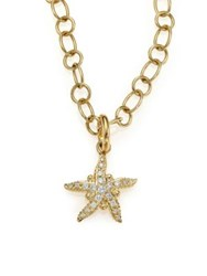 Temple St. Clair Tree Of Life Diamond And 18K Yellow Gold Sea Star Pendant