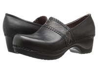 Sanita Daisy Dazzle Black Women's Clog Shoes