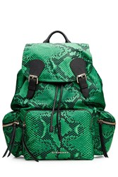 Burberry Shoes And Accessories Printed Rucksack Green