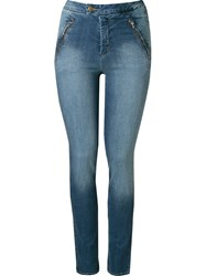 Andrea Marques Mid Rise Skinny Jeans Blue