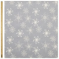 John Lewis Linen Look Snowflake Fabric Grey Natural