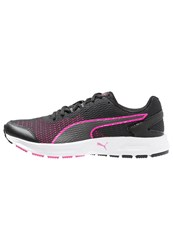 Puma Descendant V4 Cushioned Running Shoes Black Pink Glow